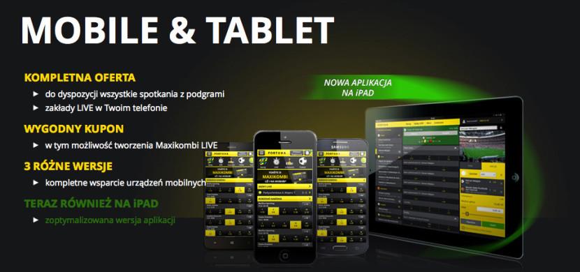 Aplikacja eFortuna na Mobile&Tablet