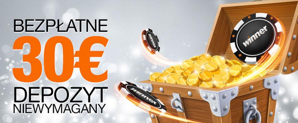 Odbierz darmowe €30 bonusu bez depozytu na gry kasynowe w Winner Casino