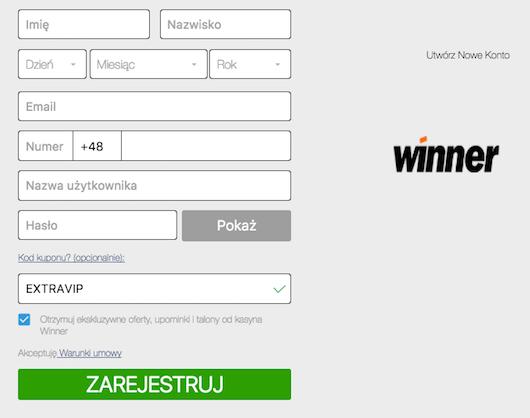 Wykorzystaj kod kuponu w Winner Casino i odbierz darmowy bonus!