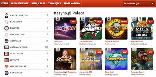 Graj w polskim kasynie w najlepsze gry kasyno.pl