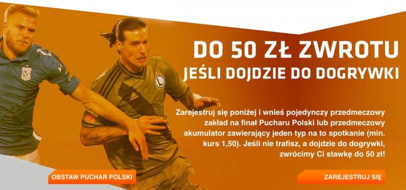 Odbierz zwrot stawki do 50 zł w meczu Lech - Legia na Expekt. Obstaw bez ryzyka Puchar Polski 2016