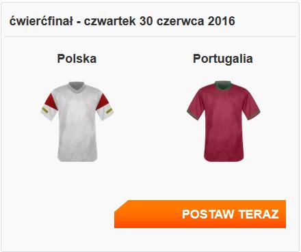 Polska Portugalia 50 PLN za zakłady