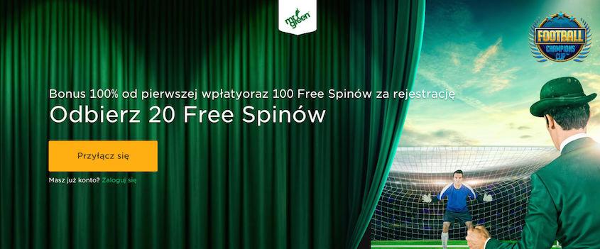 Zagraj na automacie Football Champions Cup za darmo - Odbierz 20 darmowych spinów od Mr Green na start!