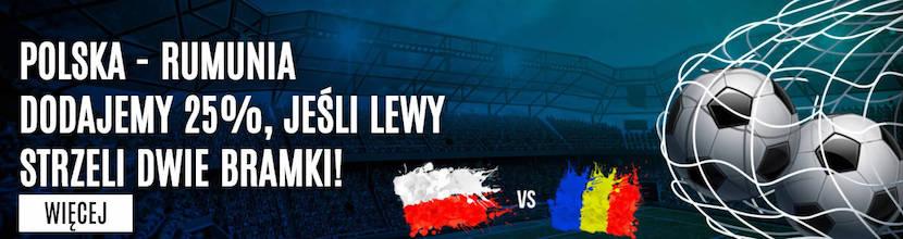 Promocja bukmachera LVBET na mecz Polska - Rumunia 2017