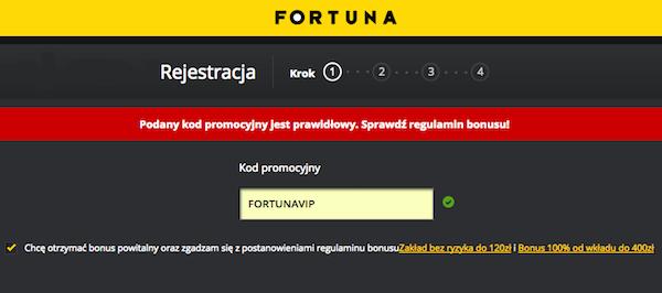 Załóż konto u bukmachera FORTUNA z kodem promocyjnym i odbierz ekskluzywny bonus!