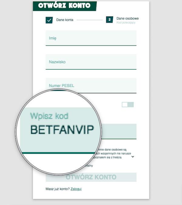 BETFAN kod promocyjny 2019 - BETFANVIP