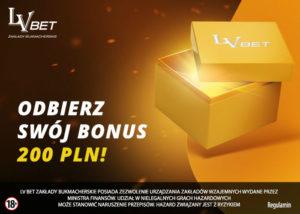 Promocja LV BET. Zgarnij bonus do 200 PLN