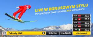Bonus 20 PLN od Fortuny na Puchar Świata w Zakopanem