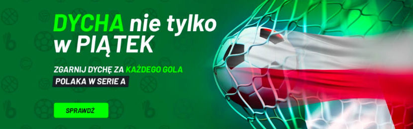 Bonus 10 PLN od TOTALbet na gole Polaków w Serie A