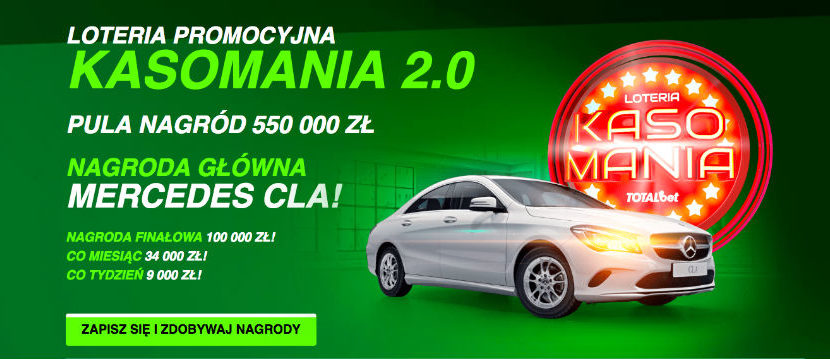 Kasomania 2.0 w TOTALbet- do wygrania Mercedes