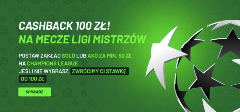 Cashback 50 % do 100 PLN w TOTALbet na Ligę Mistrzów