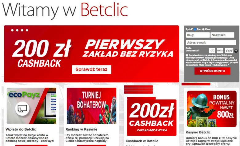 BetClic cashback 200 PLN