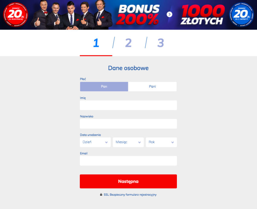 Rejestracja Etoto kod bonusowy