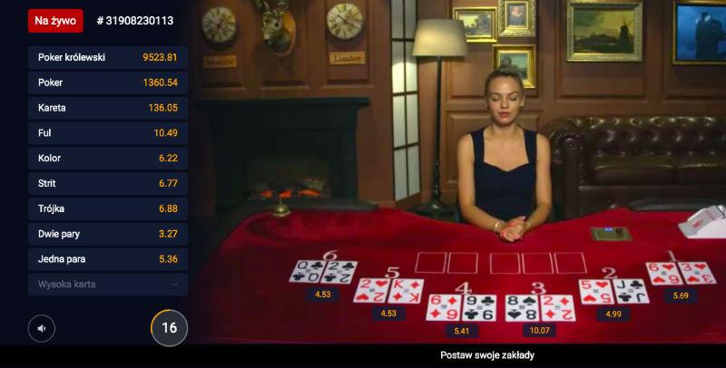 Zakłady na pokera STS