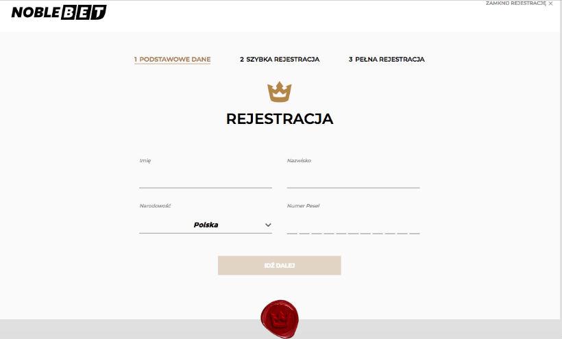 Rejestracja Noblebet 2020