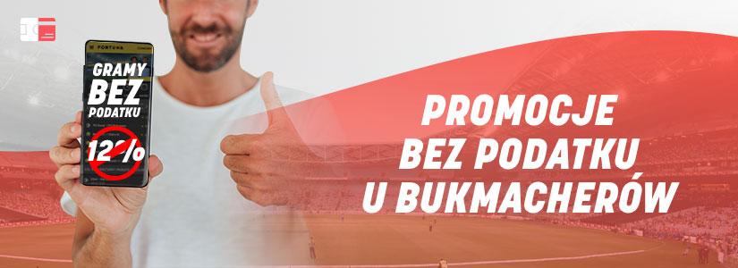 Promocje bez podatku u bukmacherów online