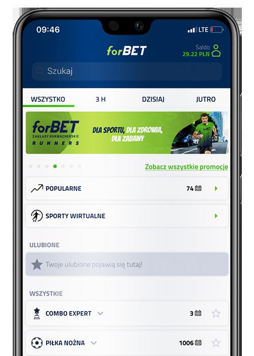 Bukmacher Forbet aplikacja mobilna