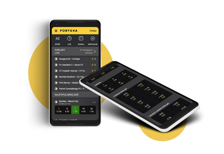 Aplikacja na telefon Fortuna