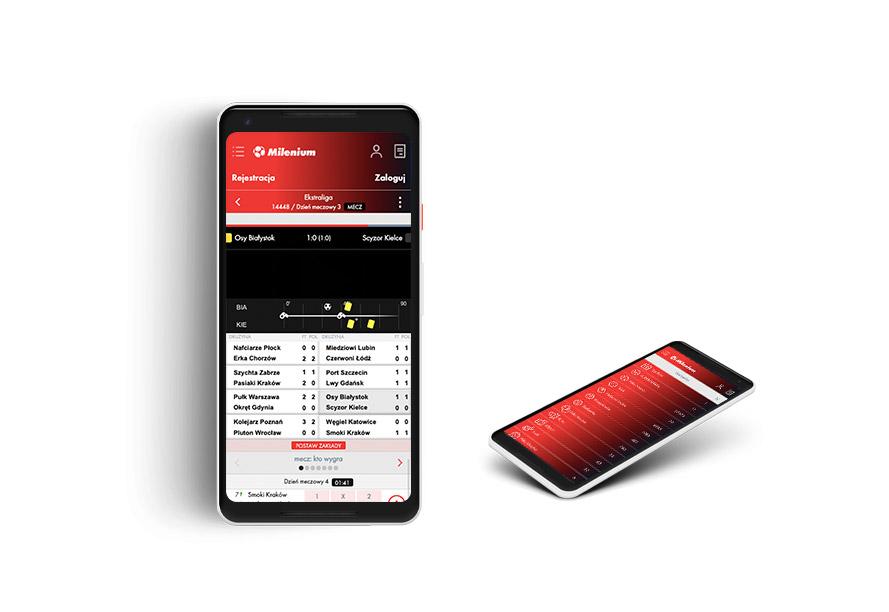 Aplikacja na telefon Milenium