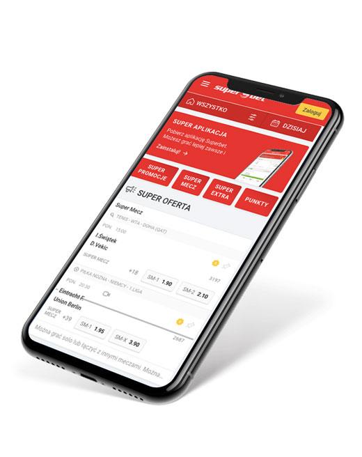 Aplikacja mobilna Superbet