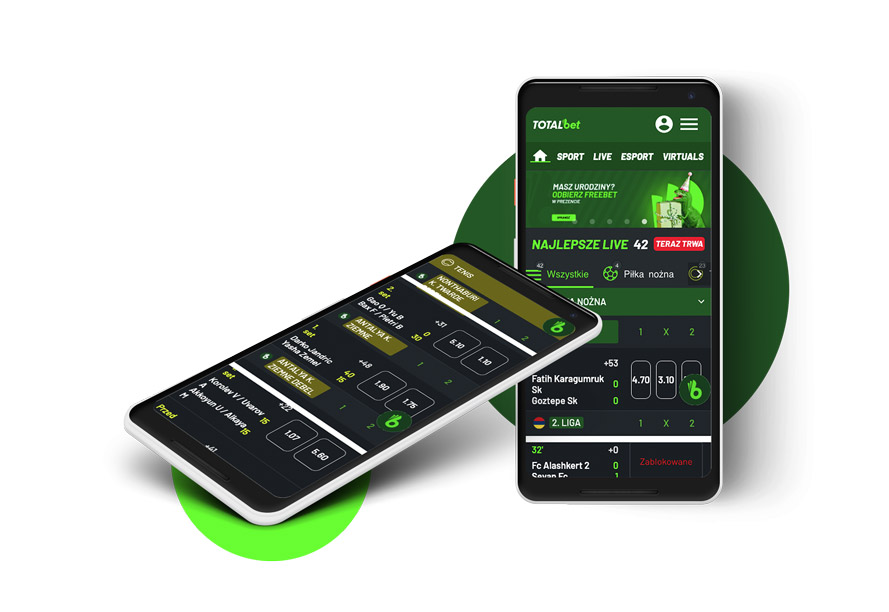 Aplikacja na telefon TOTALbet