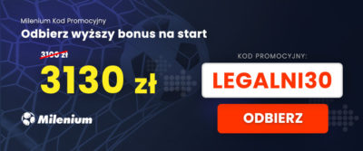Kod promocyjny Milenium bonus VIP