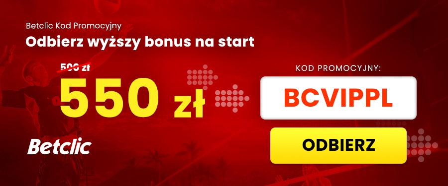 Kod promocyjny Betclic bonus VIP