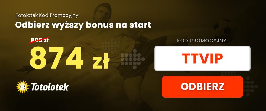 Totolotek kod bonusowy vip