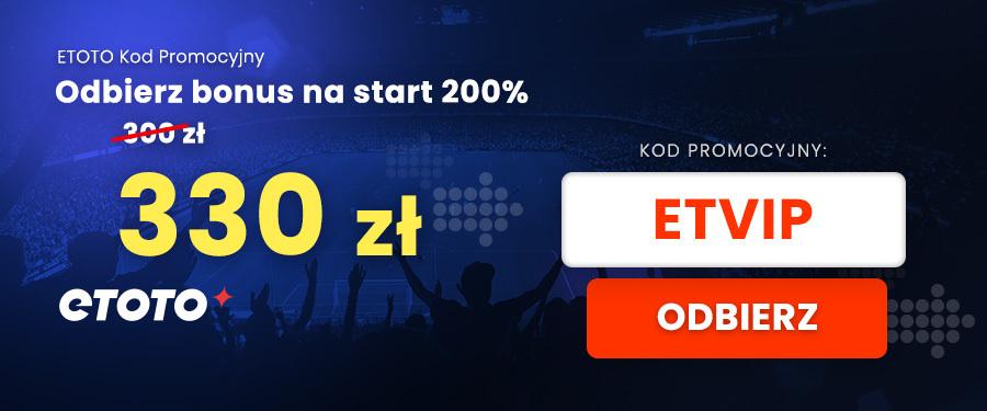 Kod bonusowy Etoto bonus na start